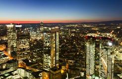 Financial district of Frankfurt at twilight Stock Photos