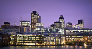 Financial District of London Royalty Free Stock Photo