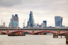 Financial district of London city Stock Photos