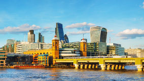 Financial district of London city Stock Images