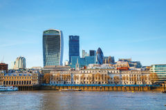 Financial district of London city Royalty Free Stock Images