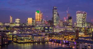 The city of London Royalty Free Stock Photos