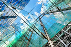 Modern glass buildings of the biggest business district in London, UK Royalty Free Stock Photos