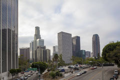 Financial District in Los Angeles, CA Royalty Free Stock Photo