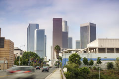Financial District in Los Angeles, CA Royalty Free Stock Image