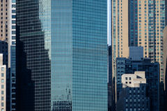 The financial district of lower manhattan as seen from across th Stock Photography