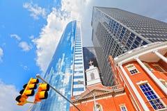 Financial district Manhattan royalty free stock photo