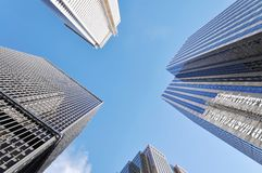 Financial district in a modern city Stock Photo