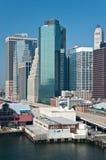 Financial district, new york city. A shot of downtown manhattan - financial district Stock Photos