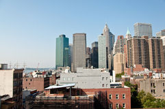 Financial district, new york city. A shot of downtown manhattan - financial district Stock Photo