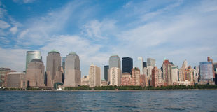 Financial district, new york city. A shot of downtown manhattan - financial district Stock Image