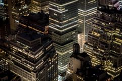 Financial district of New York City. A view above the financial district of New York City Royalty Free Stock Image