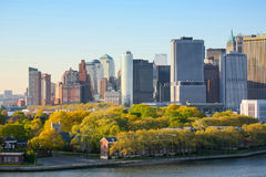Financial District in New York Royalty Free Stock Photo
