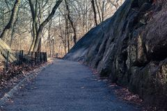 Central Park Trail stock photography