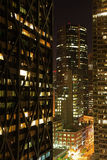 Financial District of San Francisco at Night Royalty Free Stock Image