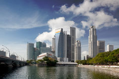 Financial district of Singapore Royalty Free Stock Images
