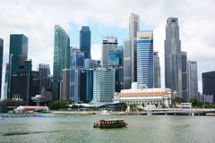 Financial District in Singapore Stock Image