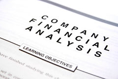 Financial document Stock Images
