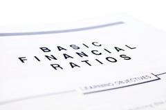 Financial document stock photo