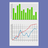 Financial document with charts and diagrams Royalty Free Stock Photos