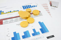 Financial document Stock Image