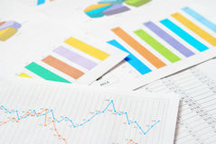Financial documents Royalty Free Stock Photos
