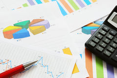 Financial documents Royalty Free Stock Images