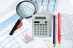 Financial documents Stock Image