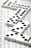 Financial domino stock photo