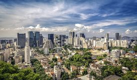 Financial Downtown of Rio de Janeiro Royalty Free Stock Images