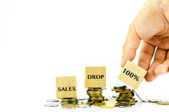 Financial drop concept Royalty Free Stock Images