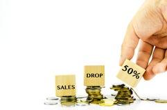 Financial drop concept Royalty Free Stock Photo