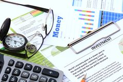 Financial and economic news Stock Photo