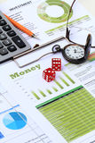 Financial and economic news update Royalty Free Stock Photo