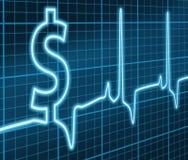 Financial ekg. Digital illustration concept of the Heart Beat of Financial Success vector illustration
