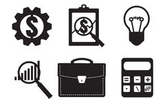 Financial examiner icon. Economic statistic icon. Vector illustr Stock Images