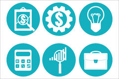 Financial examiner icon. Economic statistic icon. Vector illustr. Ation Royalty Free Stock Photos