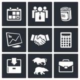 Financial Exchange icon set Royalty Free Stock Photos