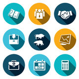 Financial Exchange icon set. Financial Exchange icons set on a colored background Royalty Free Stock Photography