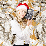 The Financial Fallout From The Cost Of Christmas Stock Images
