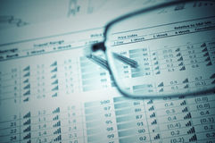 Financial figures Royalty Free Stock Images