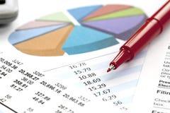 Financial figures Royalty Free Stock Photos
