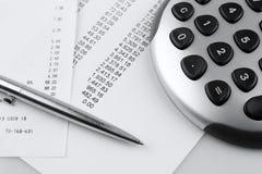 Financial figures Stock Photo