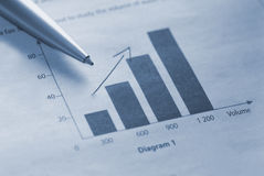 Financial figures Stock Image