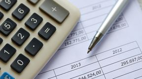 Financial figures Stock Photography