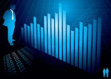 Financial figures graph Stock Image