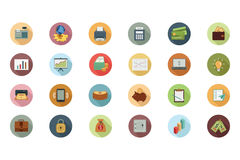 Financial Flat Colored Icons 1 Royalty Free Stock Images