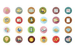 Financial Flat Colored Icons 4 Stock Image