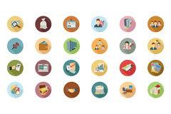 Financial Flat Colored Icons 3 Stock Photography