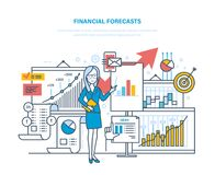 Financial forecasts. Marketing strategy. Financial planning, analysis, market research, e-commerce. Stock Photos